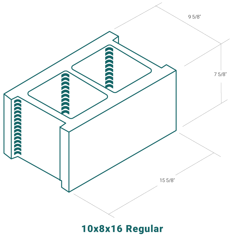 10 x 8 x 16 Regular