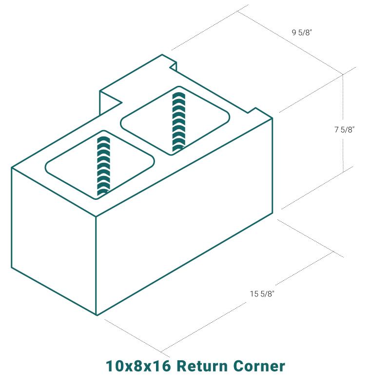 10 x 8 x 16 Return Corner