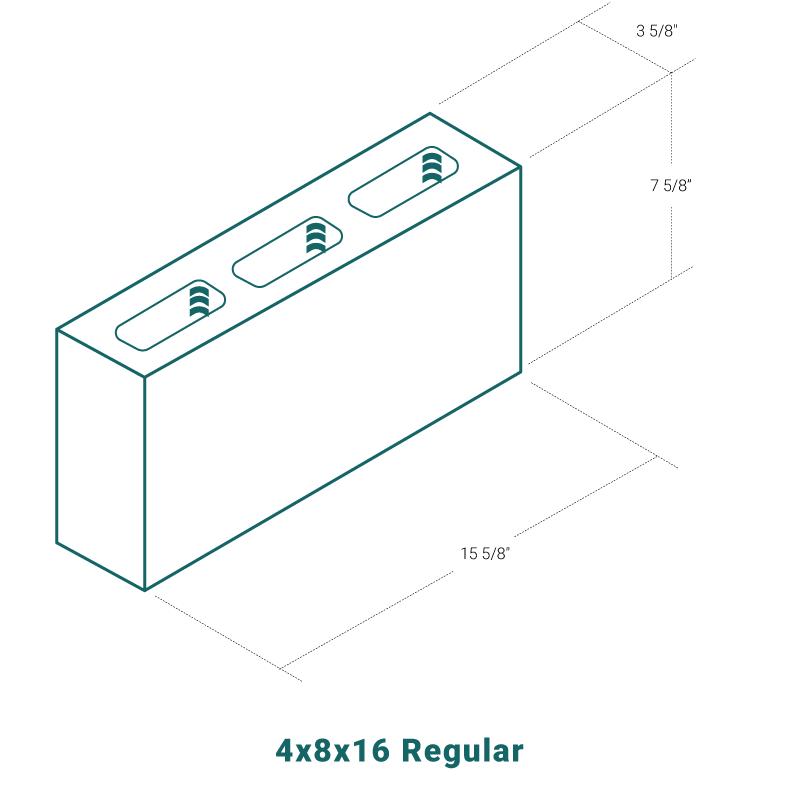 4 x 8 x 16 Regular