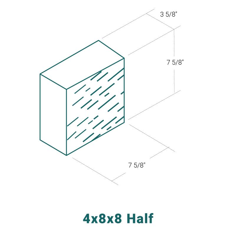 4 x 8 x 8 Half