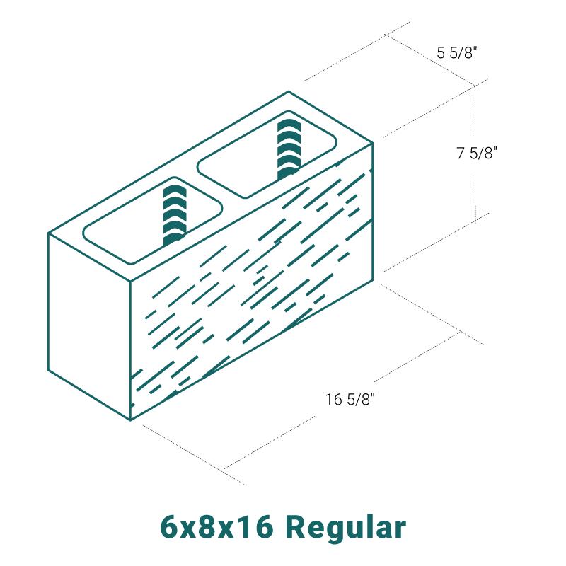6 x 8 x 16 Regular