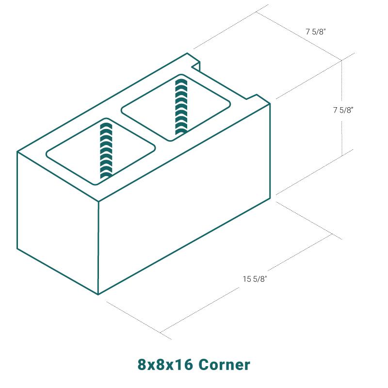 8 x 8 x 16 Corner