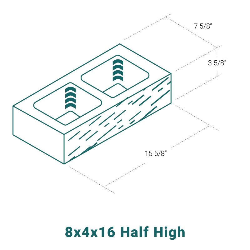 8 x 4 x 16 Half High