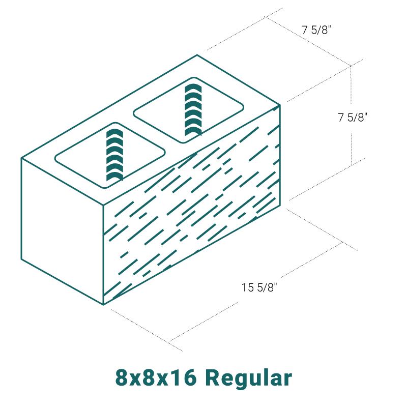 8 x 8 x 16 Regular